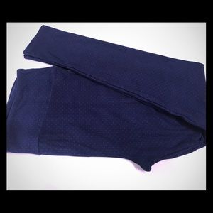 LulaRoe TC leggings microdot polka dot navy new